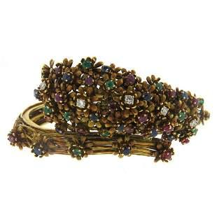 Zolotas Gold Diamond Emerald Sapphire Ruby Bracelet