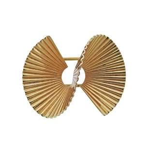 Mid Century 14k Gold Brooch