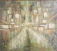 Savo Radulovic New York 19111991 Times Square oil