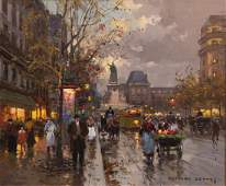 Edouard Leon Cortes, French , Place de la Republique,