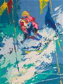 LeRoy Neiman American Innsbruck serigraph 12 x 16