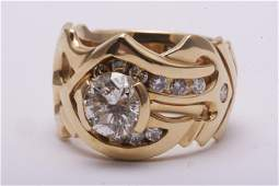 Mens Diamond and Gold Ring