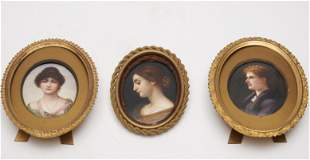 A Collection of 3 Continental Painted Porcelain