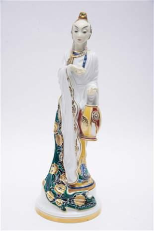 A Rare Rosenthal Art Deco Porcelain Figure, Chinese