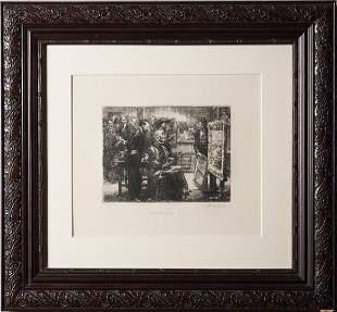 John Sloan, American (1871-1951), The Picture Buyer,