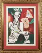 Alexandra Nechita, American (b. 1985), Cubist Figure,