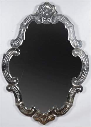 "Venetian Glass Mirror 40"""