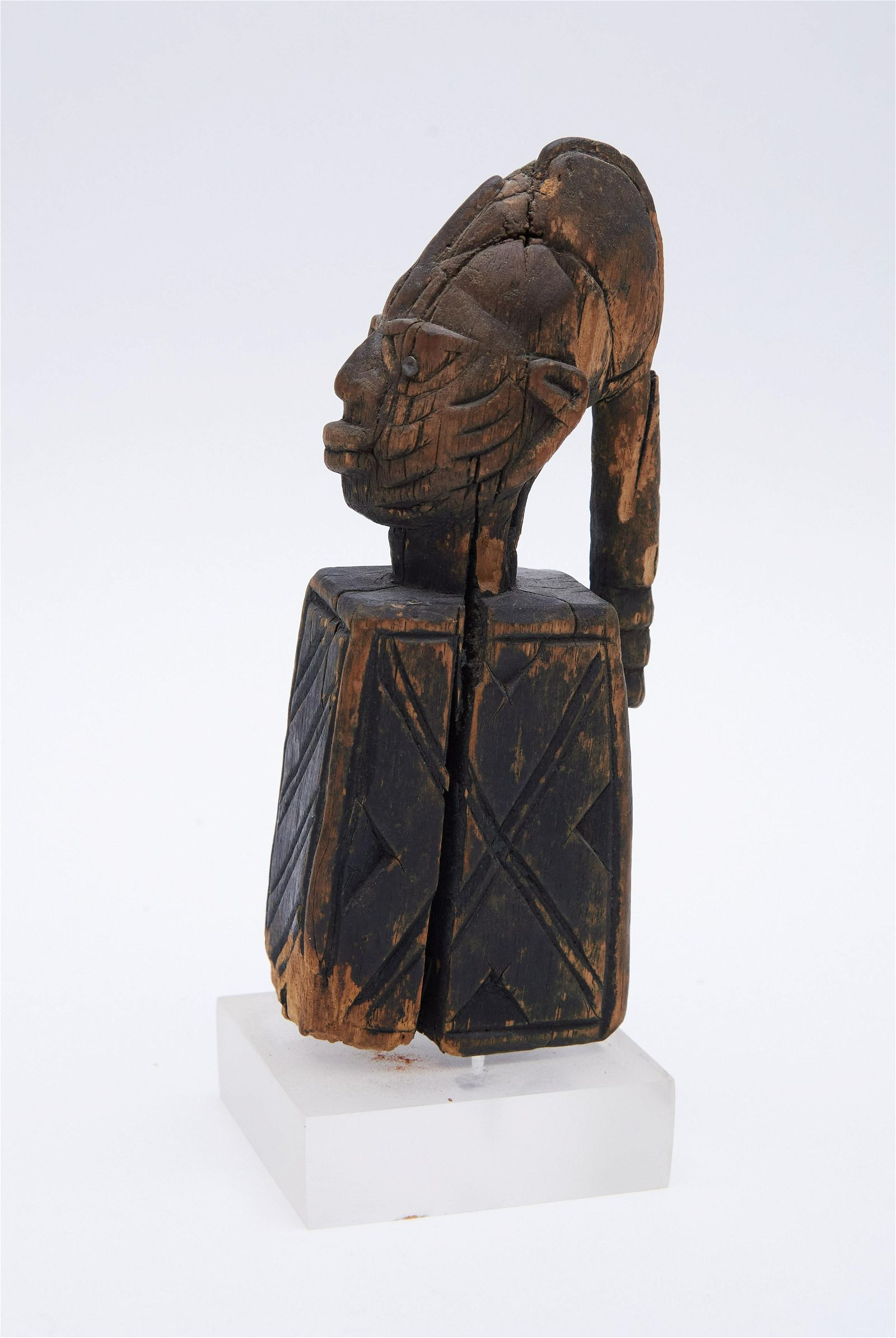 Yoruba Eshu African Staff Height: 6 1/2 inches