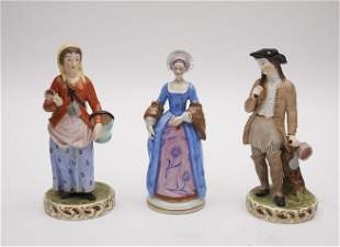A Pair of Dresden Porcelain Figure and an Accompanying