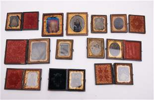 Collection Of Twelve 19th Century Daguerreotypes And