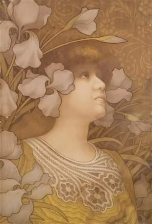 Paul Berthon, French (1872-1909), Sarah Bernhardt,