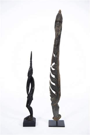 Two Carved Wood African Tribal Figures