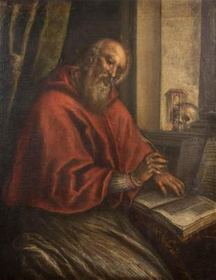 , Spanish School 17th Century, St. Jerome Translating