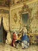 Ettore Simonetti, Italy (1857-1909), Elegant interior