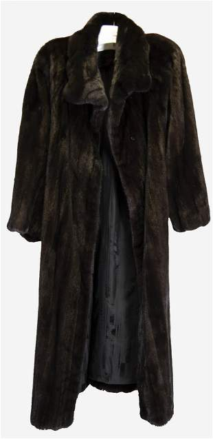 Lovely Dark Brown Mink Coat Retailed by L. Magnin,