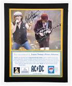 AC/DC Signed Photo/ Pick 11 x 14 inches