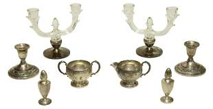 Collection of Sterling Silver Weighted Table Pieces (8