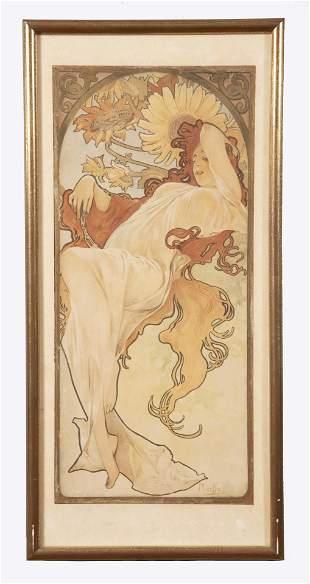 Alphonse Mucha, Czech (1860-1939), Sarah Bernhardt,