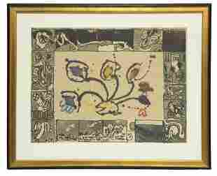 Pierre Alechinsky, Belgian (b. 1927), Untitled, color