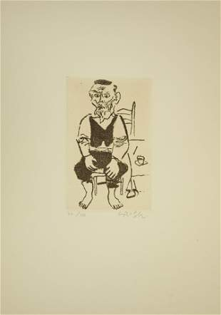 William Gropper, American (1897-1977), Man Seated, and