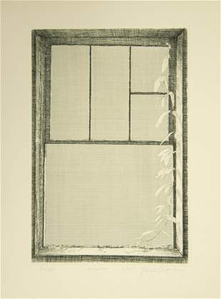 Kim Tcha-Sup, Korean (b. 1940), Window, 1977, etching
