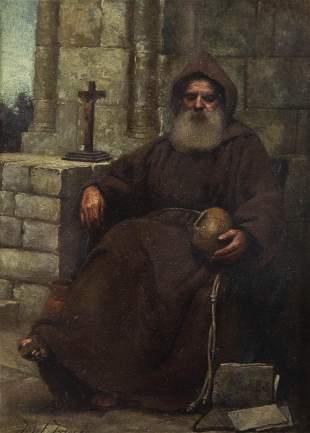 Josef Israels, Netherlands, Holland (1824-1911), Monk