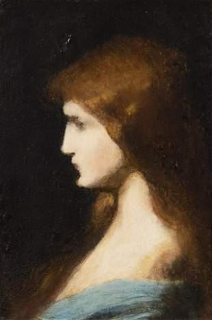Jean-Jacques Henner, France (1829-1905), Portrait in
