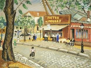 Lucien Genin, French (1894-1953), Paris Scene, gouache,