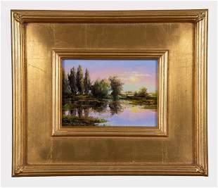 Thomas Dedecker, American , Sunrise Light, oil on