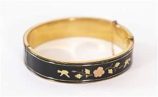 Victorian Enamel Bangle Bracelet