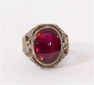 14kt English Red Tourmaline Ring