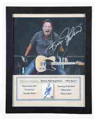 Signed Bruce Springsteen Color Photograph 12 1/2 x 15