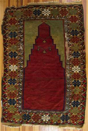"""Antique Persian Directional Area Rug 5' 4"""" x 3' 7"""""""