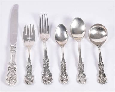 Reed & Barton Sterling Silver Flatware Service for 12,