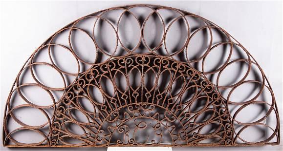 Iron Architectural Element, Monogrammed R. C. G 26 x 52