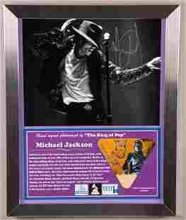Michael Jackson Signed Photo/ Concert Pass.