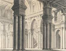 View of the inner courtyard of a palace