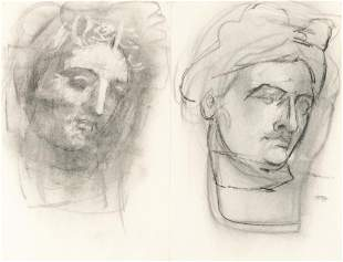 Recto: Ohne Titel (Antique Heads) - Verso: Kopfstudie