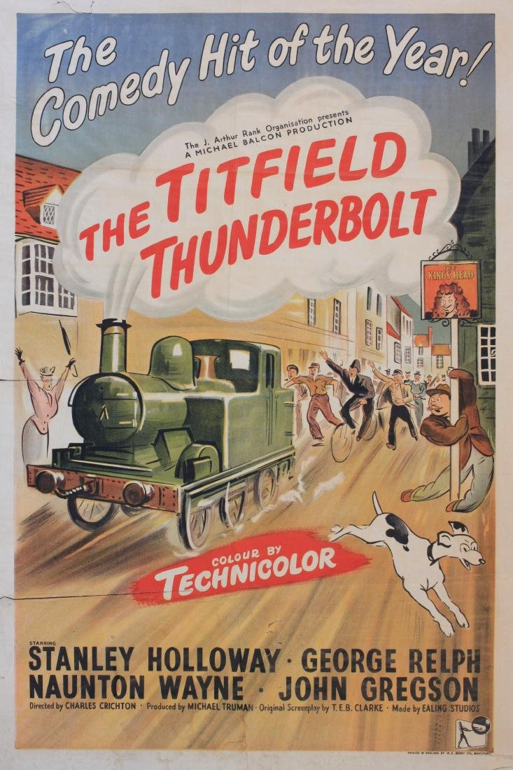 Anon  The Titfield Thunderbolt, original poster for the