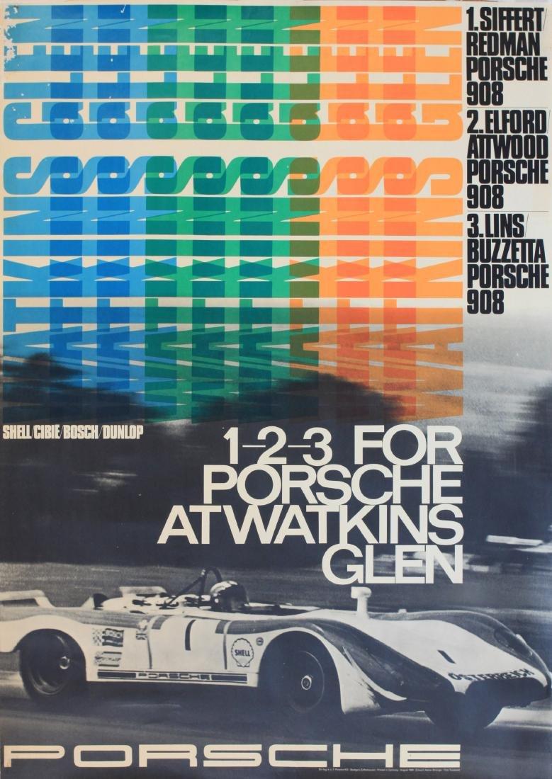 Foto Toussaint Watkins Glen 1-2-3 for Porsche, original