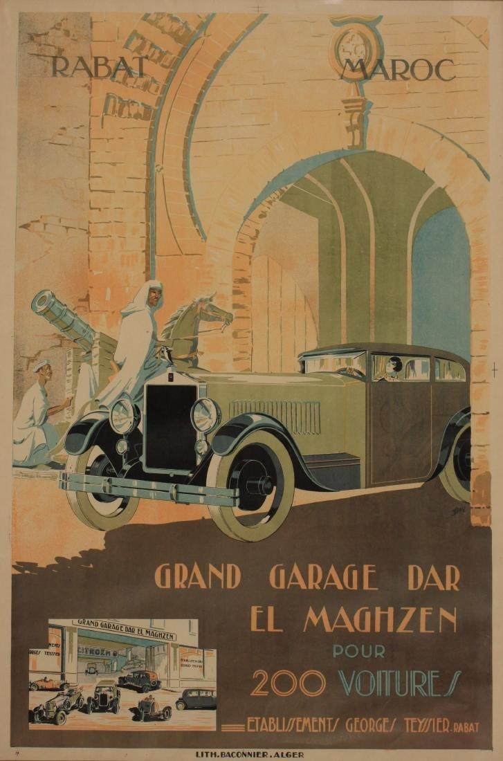Grand Garage Dar El Maghzen Rabat Maroc, signed IB and