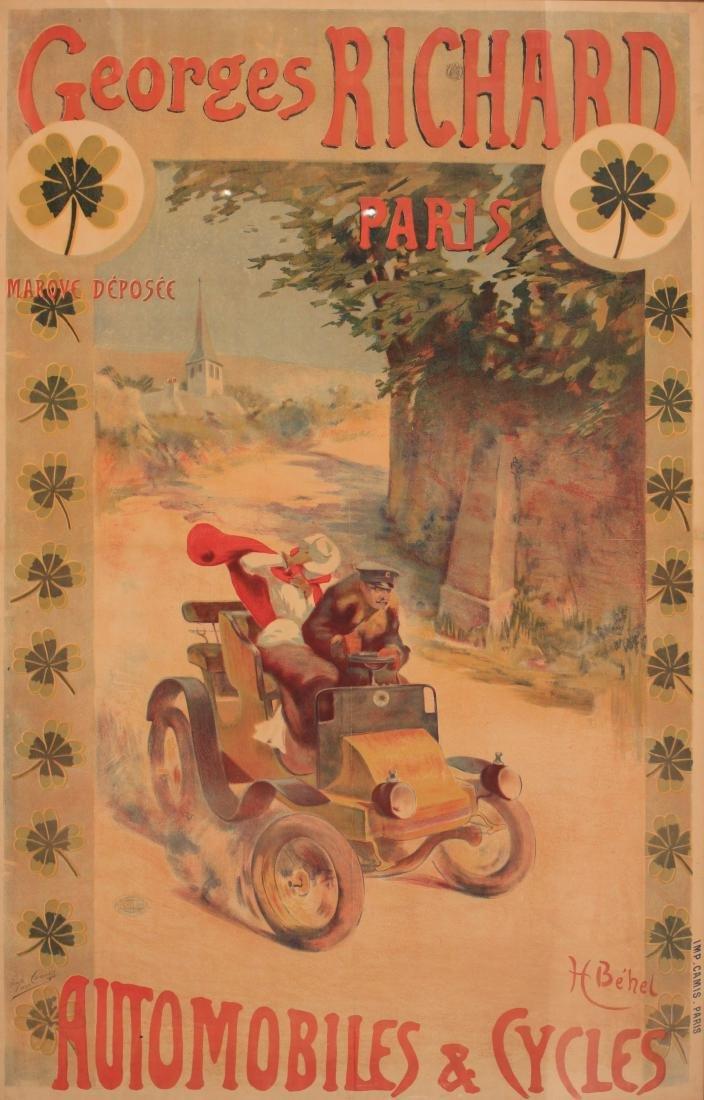 H Behel (Henri) Georges Richard Automobiles & Cycles