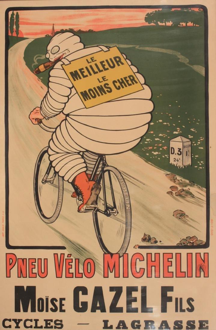 Anon (possibly O'Galop) Pneu Velo Michelin, original