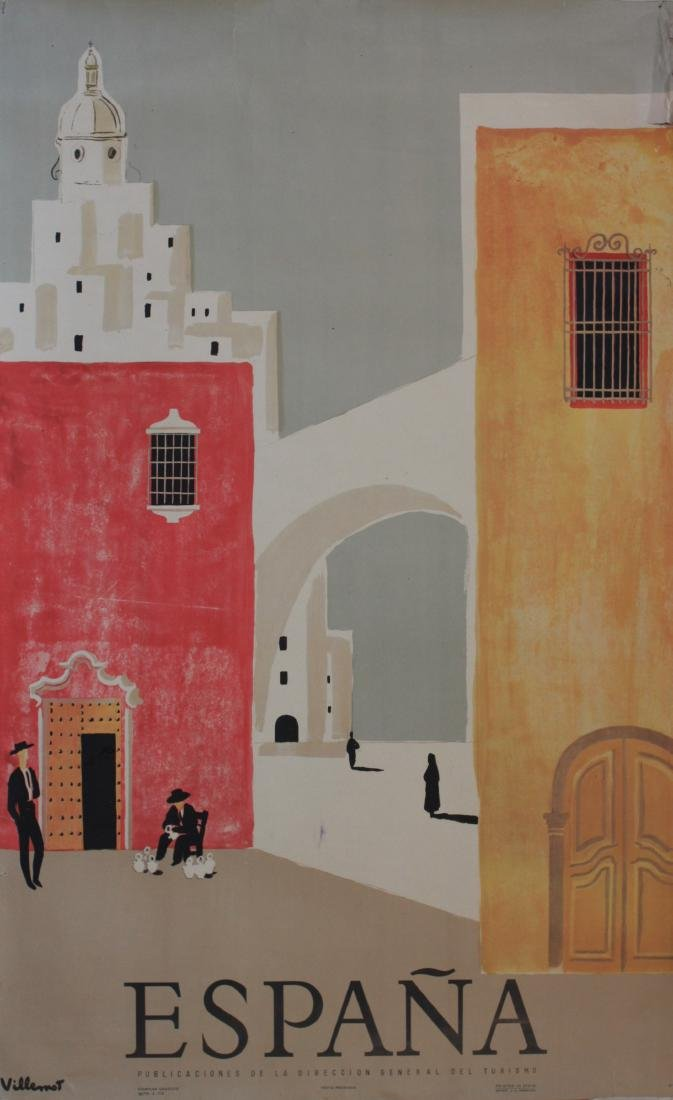 Villemot (Bernard 1911-1989) Espagne, original poster