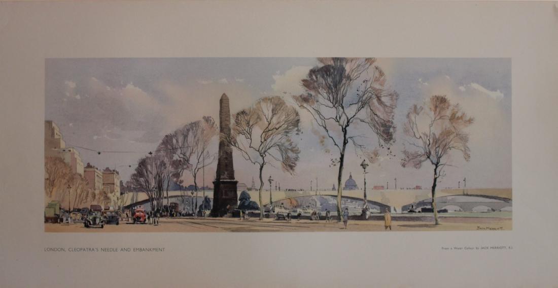Jack Merriott (1901-1968) London Cleppatra's Needle and
