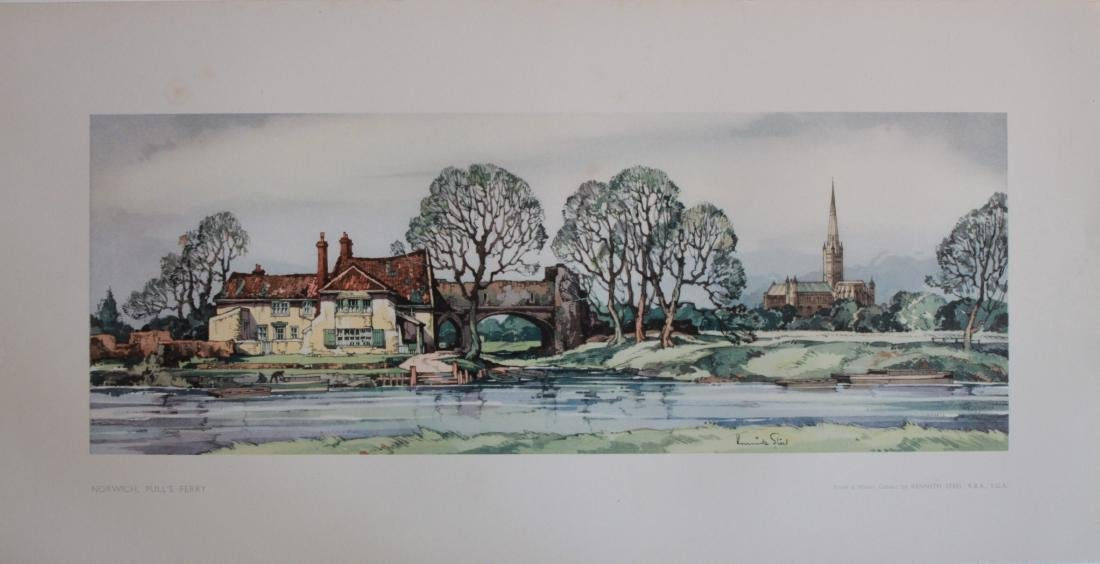 Kenneth Steel (1906-1970) Norwich Pull's Ferry,  LNER