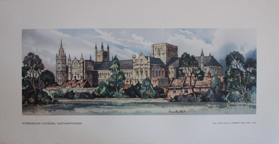 Kenneth Steel (1906-1970)  Peterborough Cathedral