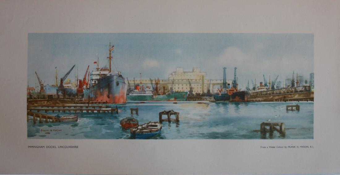 Frank H Mason (1875-1965) Immingham Docks Lincolnshire,
