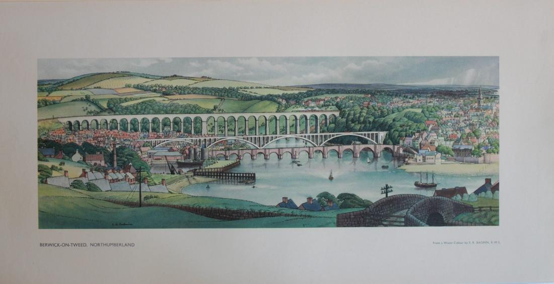 S R Badmin (1906-1989) Berwick-upon-Tweed,  LNER