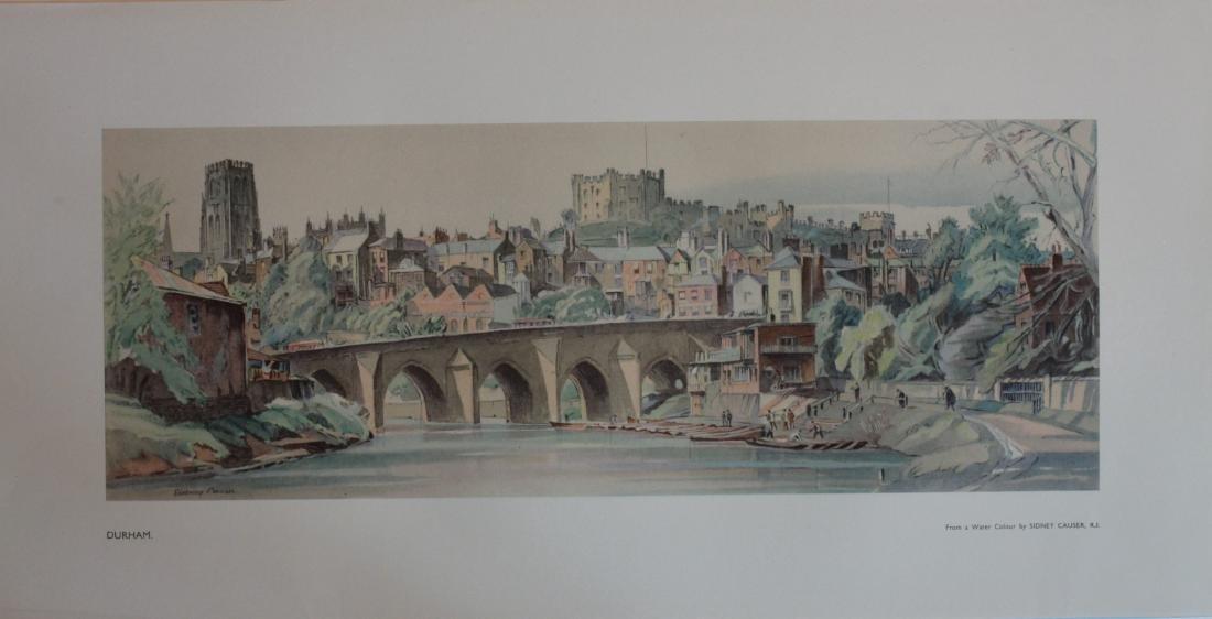 Sidney Causer (1876-1958) Durham,  LNER Carriage print